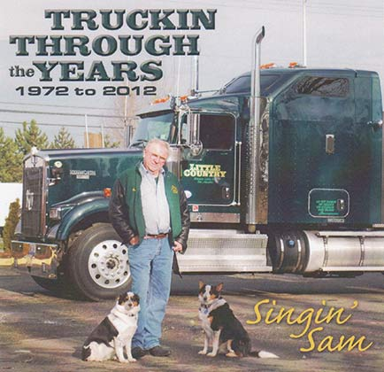 Trucking through the years album cover by Singin Sam
